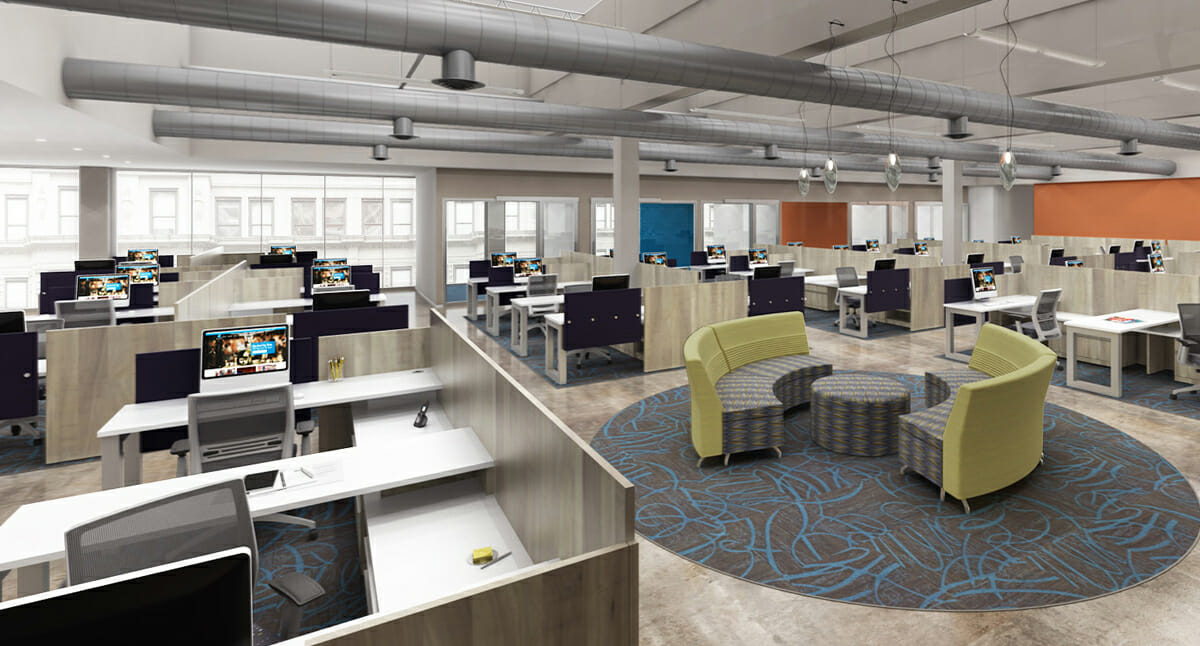 Office design productivity goes up when walls come down for Office design productivity research