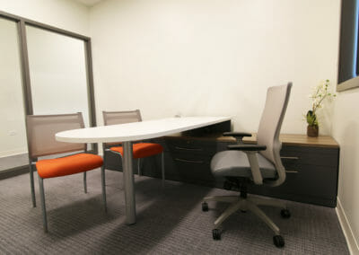 Private Office_ Orange Chairs